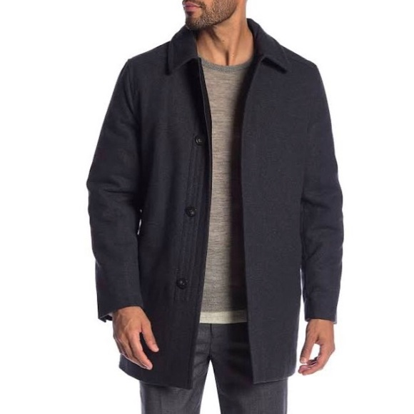 Hart Schaffner Marx  Barcelona Charcoal Wool Coat